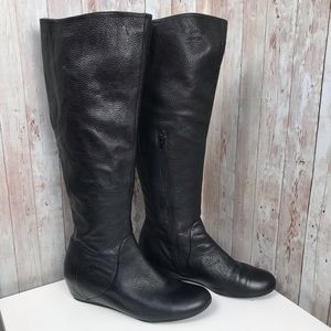 14th & Union 9.5 black leather knee tall boots